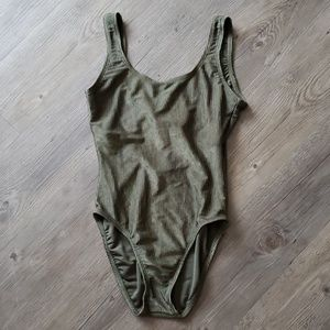 Olive One-Piece Swimsuit